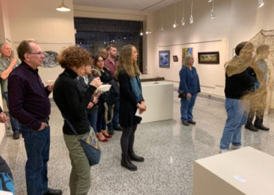 LRAC visitors in gallery 3