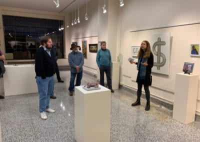 LRAC visitors in gallery 4