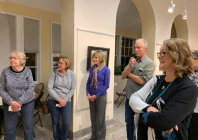 LRAC visitors in gallery 5